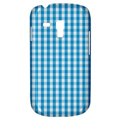 Oktoberfest Bavarian Blue And White Large Gingham Check Samsung Galaxy S3 Mini I8190 Hardshell Case by PodArtist
