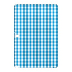 Oktoberfest Bavarian Blue And White Large Gingham Check Samsung Galaxy Tab Pro 10 1 Hardshell Case by PodArtist