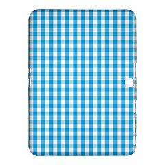 Oktoberfest Bavarian Blue And White Large Gingham Check Samsung Galaxy Tab 4 (10 1 ) Hardshell Case  by PodArtist