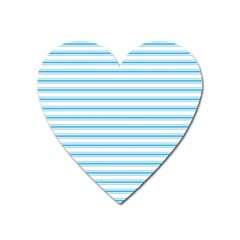 Oktoberfest Bavarian Blue And White Large Mattress Ticking Stripes Heart Magnet by PodArtist
