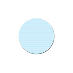 Oktoberfest Bavarian Blue And White Large Mattress Ticking Stripes Golf Ball Marker by PodArtist