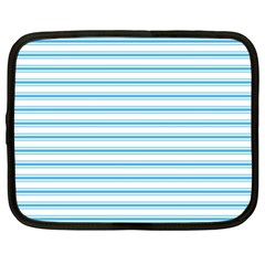 Oktoberfest Bavarian Blue And White Large Mattress Ticking Stripes Netbook Case (xxl) by PodArtist