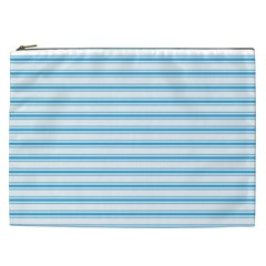 Oktoberfest Bavarian Blue And White Large Mattress Ticking Stripes Cosmetic Bag (xxl) by PodArtist