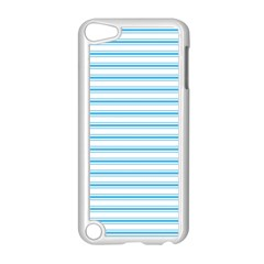 Oktoberfest Bavarian Blue And White Large Mattress Ticking Stripes Apple Ipod Touch 5 Case (white) by PodArtist