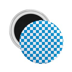 Oktoberfest Bavarian Large Blue And White Checkerboard 2 25  Magnets by PodArtist