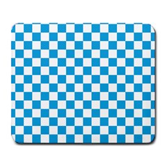 Oktoberfest Bavarian Large Blue And White Checkerboard Large Mousepads by PodArtist