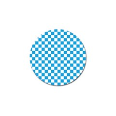 Oktoberfest Bavarian Large Blue And White Checkerboard Golf Ball Marker (10 Pack) by PodArtist