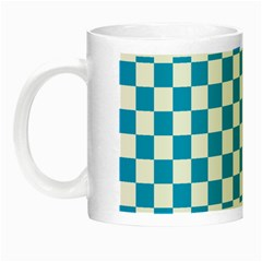 Oktoberfest Bavarian Large Blue And White Checkerboard Night Luminous Mugs by PodArtist