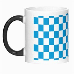 Oktoberfest Bavarian Large Blue And White Checkerboard Morph Mugs by PodArtist