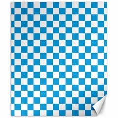 Oktoberfest Bavarian Large Blue And White Checkerboard Canvas 8  X 10  by PodArtist