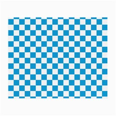 Oktoberfest Bavarian Large Blue And White Checkerboard Small Glasses Cloth (2-side) by PodArtist