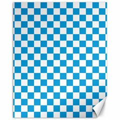 Oktoberfest Bavarian Large Blue And White Checkerboard Canvas 11  X 14  by PodArtist