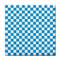 Oktoberfest Bavarian Large Blue And White Checkerboard Face Towel by PodArtist