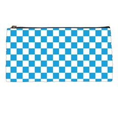 Oktoberfest Bavarian Large Blue And White Checkerboard Pencil Cases by PodArtist