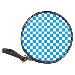 Oktoberfest Bavarian Large Blue And White Checkerboard Classic 20 Cd Wallets by PodArtist