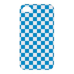 Oktoberfest Bavarian Large Blue And White Checkerboard Apple Iphone 4/4s Hardshell Case by PodArtist