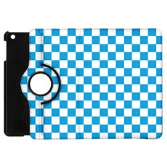 Oktoberfest Bavarian Large Blue And White Checkerboard Apple Ipad Mini Flip 360 Case by PodArtist