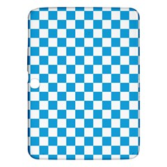 Oktoberfest Bavarian Large Blue And White Checkerboard Samsung Galaxy Tab 3 (10 1 ) P5200 Hardshell Case  by PodArtist