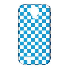Oktoberfest Bavarian Large Blue And White Checkerboard Samsung Galaxy S4 Classic Hardshell Case (pc+silicone) by PodArtist