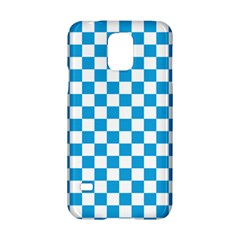 Oktoberfest Bavarian Large Blue And White Checkerboard Samsung Galaxy S5 Hardshell Case  by PodArtist