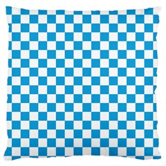 Oktoberfest Bavarian Large Blue And White Checkerboard Standard Flano Cushion Case (one Side) by PodArtist