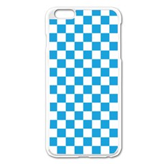 Oktoberfest Bavarian Large Blue And White Checkerboard Apple Iphone 6 Plus/6s Plus Enamel White Case by PodArtist