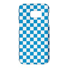 Oktoberfest Bavarian Large Blue And White Checkerboard Samsung Galaxy S7 Hardshell Case  by PodArtist