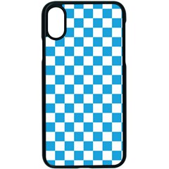 Oktoberfest Bavarian Large Blue And White Checkerboard Apple Iphone X Seamless Case (black) by PodArtist