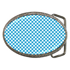 Oktoberfest Bavarian Blue And White Checkerboard Belt Buckles by PodArtist