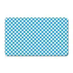 Oktoberfest Bavarian Blue And White Checkerboard Magnet (rectangular) by PodArtist