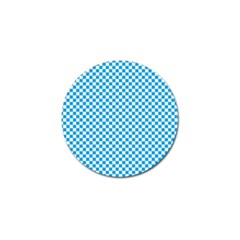 Oktoberfest Bavarian Blue And White Checkerboard Golf Ball Marker by PodArtist