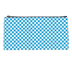 Oktoberfest Bavarian Blue And White Checkerboard Pencil Cases by PodArtist