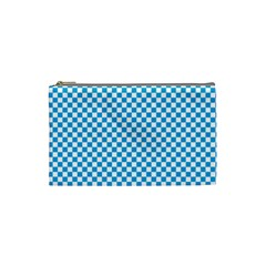 Oktoberfest Bavarian Blue And White Checkerboard Cosmetic Bag (small) by PodArtist