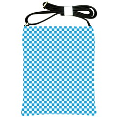 Oktoberfest Bavarian Blue And White Checkerboard Shoulder Sling Bag