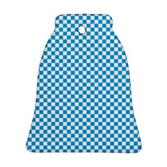 Oktoberfest Bavarian Blue And White Checkerboard Bell Ornament (two Sides) by PodArtist