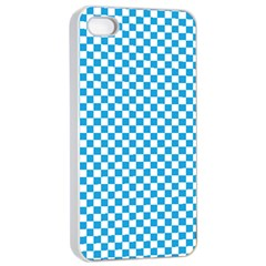 Oktoberfest Bavarian Blue And White Checkerboard Apple Iphone 4/4s Seamless Case (white) by PodArtist