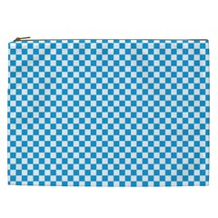 Oktoberfest Bavarian Blue And White Checkerboard Cosmetic Bag (xxl) by PodArtist