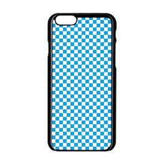 Oktoberfest Bavarian Blue And White Checkerboard Apple Iphone 6/6s Black Enamel Case by PodArtist