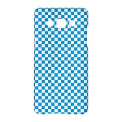 Oktoberfest Bavarian Blue And White Checkerboard Samsung Galaxy A5 Hardshell Case  by PodArtist