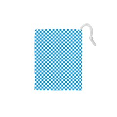 Oktoberfest Bavarian Blue And White Checkerboard Drawstring Pouch (xs) by PodArtist