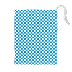 Oktoberfest Bavarian Blue And White Checkerboard Drawstring Pouch (xl) by PodArtist