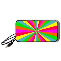 Neon Rainbow Mini Burst Portable Speaker