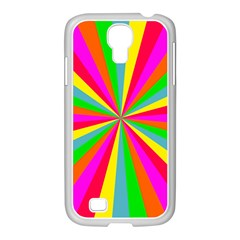 Neon Rainbow Mini Burst Samsung Galaxy S4 I9500/ I9505 Case (white) by PodArtist