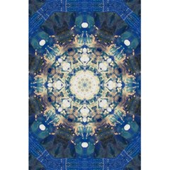 Painted Blue Mandala Flower On Canvas 5 5  X 8 5  Notebook by pepitasart