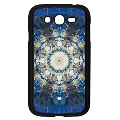 Painted Blue Mandala Flower On Canvas Samsung Galaxy Grand Duos I9082 Case (black)