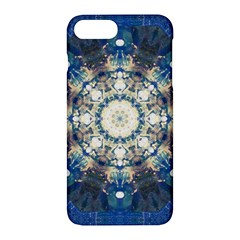 Painted Blue Mandala Flower On Canvas Apple Iphone 7 Plus Hardshell Case by pepitasart