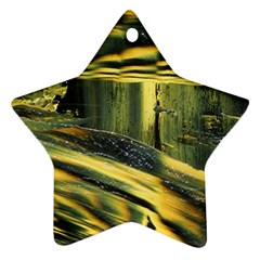 Yellow Dog Star Ornament (two Sides) by WILLBIRDWELL