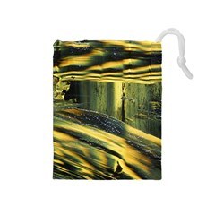 Yellow Dog Drawstring Pouch (medium)