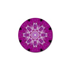 Wonderful Star Flower Painted On Canvas Golf Ball Marker (10 Pack) by pepitasart