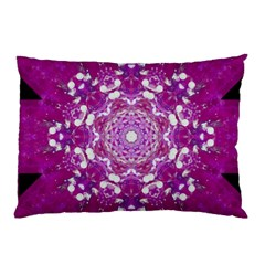 Wonderful Star Flower Painted On Canvas Pillow Case by pepitasart